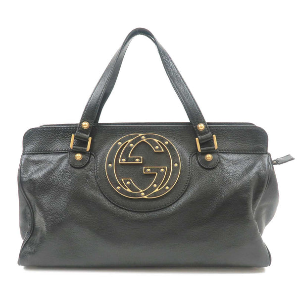 GUCCI-Blondie-Interlocking-G-Leather-Handbag-Black-121551