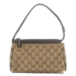 GUCCI-Abbey-Line-GG-Canvas-Leather-Purse-Pouch-Beige-145750