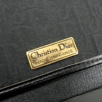Christian Dior Trotter Canvas Leather Chain Bag Black