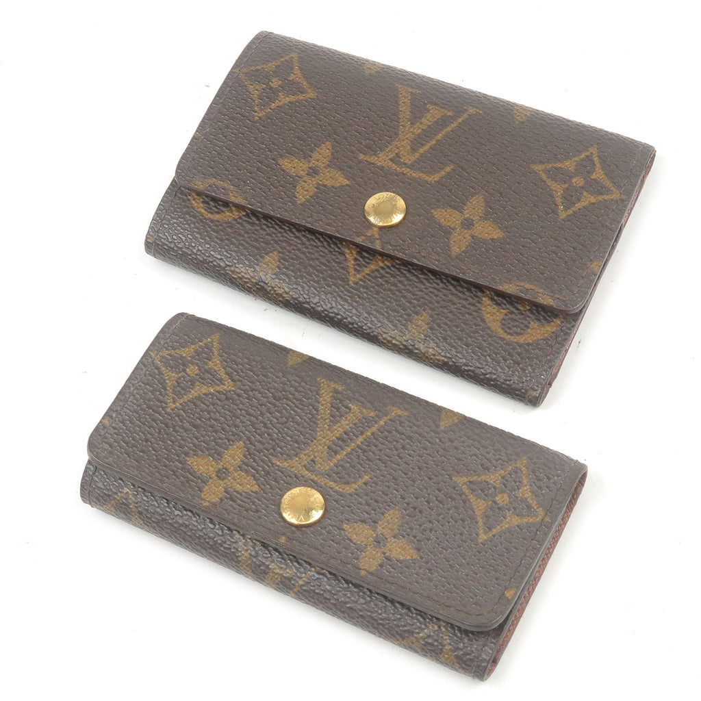 Louis-Vuitton-Monogram-Set-of-2-Multiclés-4&6-M62631-M62630