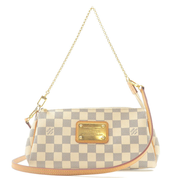Louis-Vuitton--Damier-Azur-Eva-Chain-2Way-Bag-Pouch-N55214-