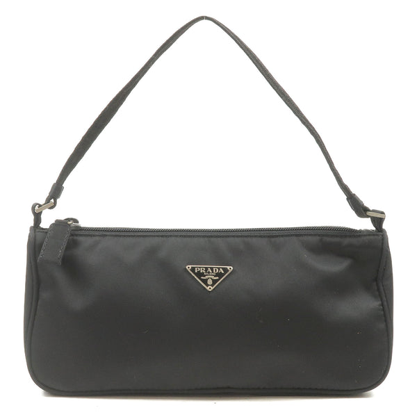 PRADA-Nylon-Purse-Pouch-Hand-Bag-Shoulder-Bag-Black