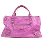 BALENCIAGA-Giant-Work-Leather-Hand-Bag-Purple-173080