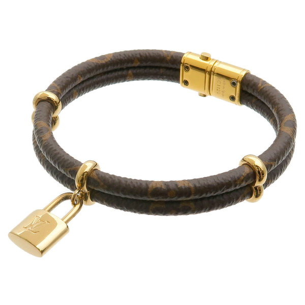 Louis Vuitton Monogram Bracelet Keep it Twice Bangle M6640E