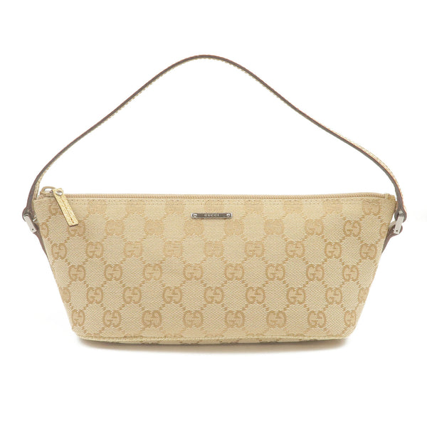 GUCCI-GG-Canvas-Leather-Pouch-Beige-Ivory-07198