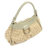 GUCCI Abbey Line GG Canvas Shoulder Bag Beige Moss green 190525