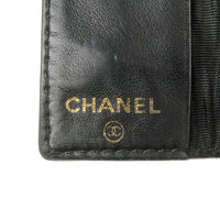 CHANEL Caviar Skin Key Case 6 Rings Black A13502