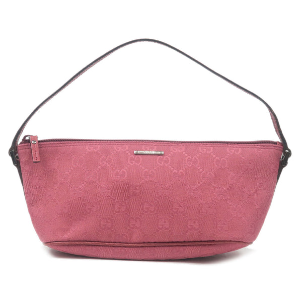 GUCCI-GG-Canvas-Leather-Pouch-Hand-Bag-Purse-Pink-07198