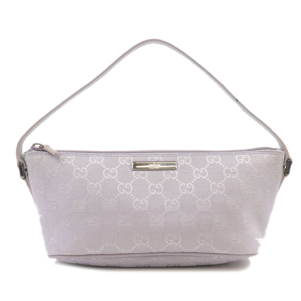 GUCCI-GG-Canvas-Leather-Hand-Bag-Purse-Pouch-Lavender-07198