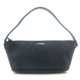 GUCCI-GG-Canvas-Leather-Hand-Bag-Purse-Black-141809--------