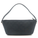 GUCCI GG Canvas Leather Hand Bag Purse Black 141809