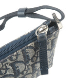 Christian Dior Trotter Canvas Leather Pouch Shoulder Bag Navy