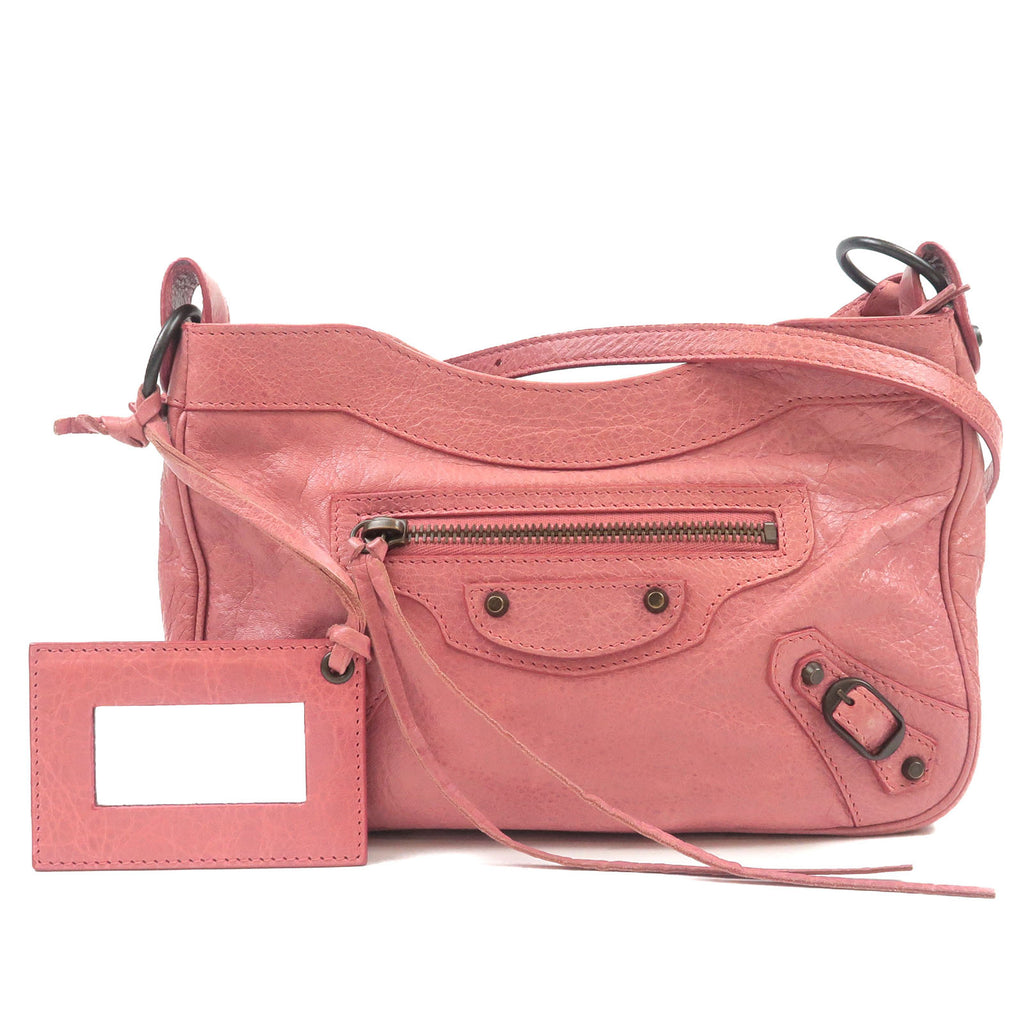 BALENCIAGA-The-Hip-Leather-Shoulder-Bag-Pink-242803
