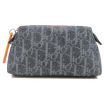 Christian-Dior-Flight-Line-Trotter-Denim-Leather-Pouch-Navy