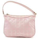 CHANEL-Travel-Line-Canvas-Leather-Shoulder-Bag-Pink