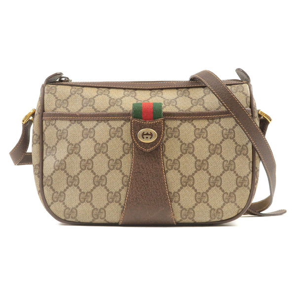 GUCCI-Old-Gucci-Sherry-GG-Plus-Leather-Shoulder-Bag-Beige