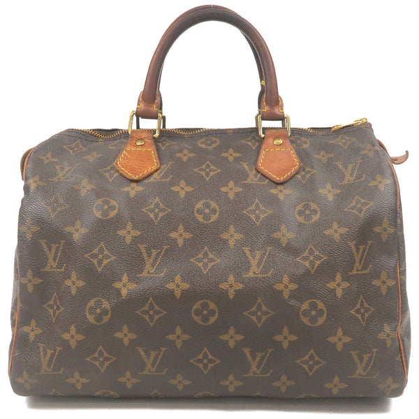 Louis-Vuitton-Monogram-Speedy-30-Hand-Bag-Boston-Bag-M41526-Used-F
