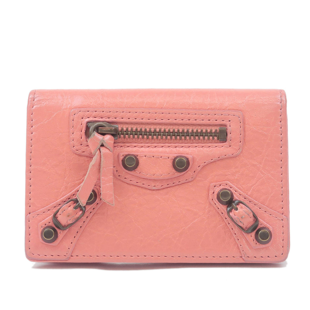 BALENCIAGA-Leather-Card-Case-Pink-310703