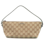 GUCCI-GG-Canvas-Leather-Hand-Bag-Purse-Beige-Green-07198