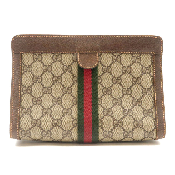 GUCCI-Sherry-GG-Plus-Leather-Clutch-Bag-Beige-Beige-Brown