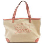 GUCCI-Swing-Craft-Canvas-Leather-Tote-Bag-Beige-Pink-247209