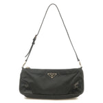 PRADA-Nylon-Leather-Shoulder-Bag-Pouch-Purse-NERO-Black