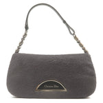 Christian-Dior-Maris-Pearl-Unborn-Calf-Leather-Shoulder-Bag-Gray
