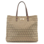 FENDI-Zucchino-Print-Canvas-Leather-Tote-Bag-Beige-Brown-8BH133