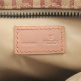 FENDI Zucchino Print Canvas Pouch Clutch Bag Beige Red 7N0013
