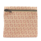 FENDI-Zucchino-Print-Canvas-Pouch-Clutch-Bag-Beige-Red-7N0013