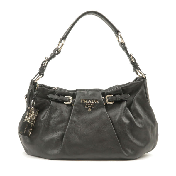 PRADA-Soft-Calf-Leather-Shoulder-Bag-Black-BR3795