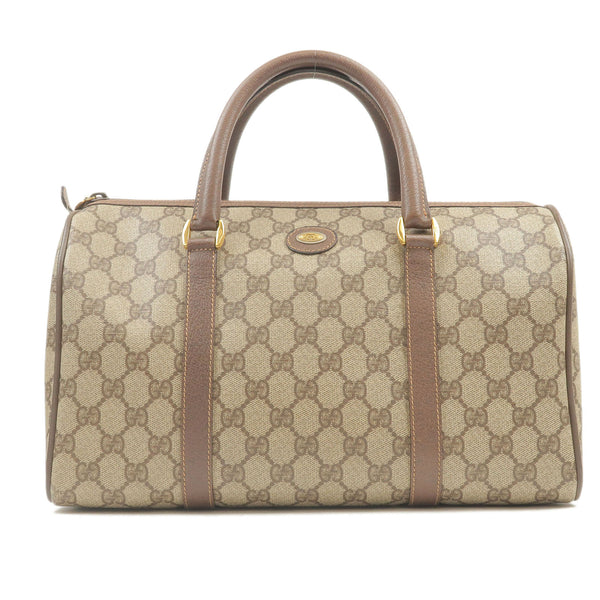 GUCCI-PVC-Leather-Boston-Bag-Hand-Bag-Brown-002-39-6842