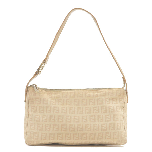 FENDI-Zucchino-Canvas-Leather-Pouch-Beige-Brown-8BR444