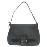 FENDI-Zucchino-Mamma-Baguette-Canvas-Leather-Shoulder-Bag-8BR001