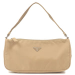PRADA-Nylon-Pouch-Purse-Shoulder-Bag-Beige-MV633