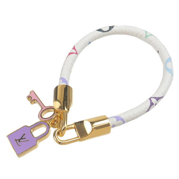 Louis-Vuitton-Monogram-Multi-Color-Bracelet-Luck-It-Bangle-M6604F
