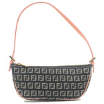 FENDI-Zucchino-Canvas-Leather-Pouch-Hand-Bag-Navy-Pink