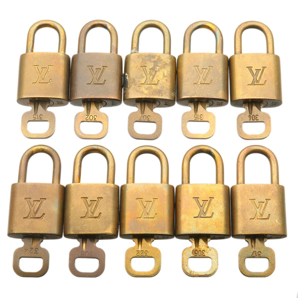 Louis-Vuitton-Set-of-10-Lock-&-Key-Cadena-Key-Lock