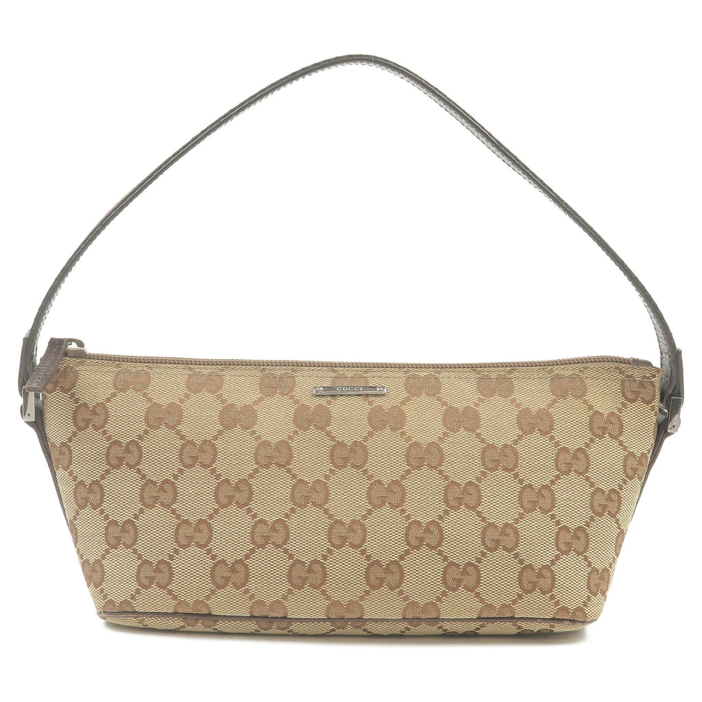 GUCCI-Sherry-Line-GG-Canvas-Leather-Hand-Bag-Beige-141809