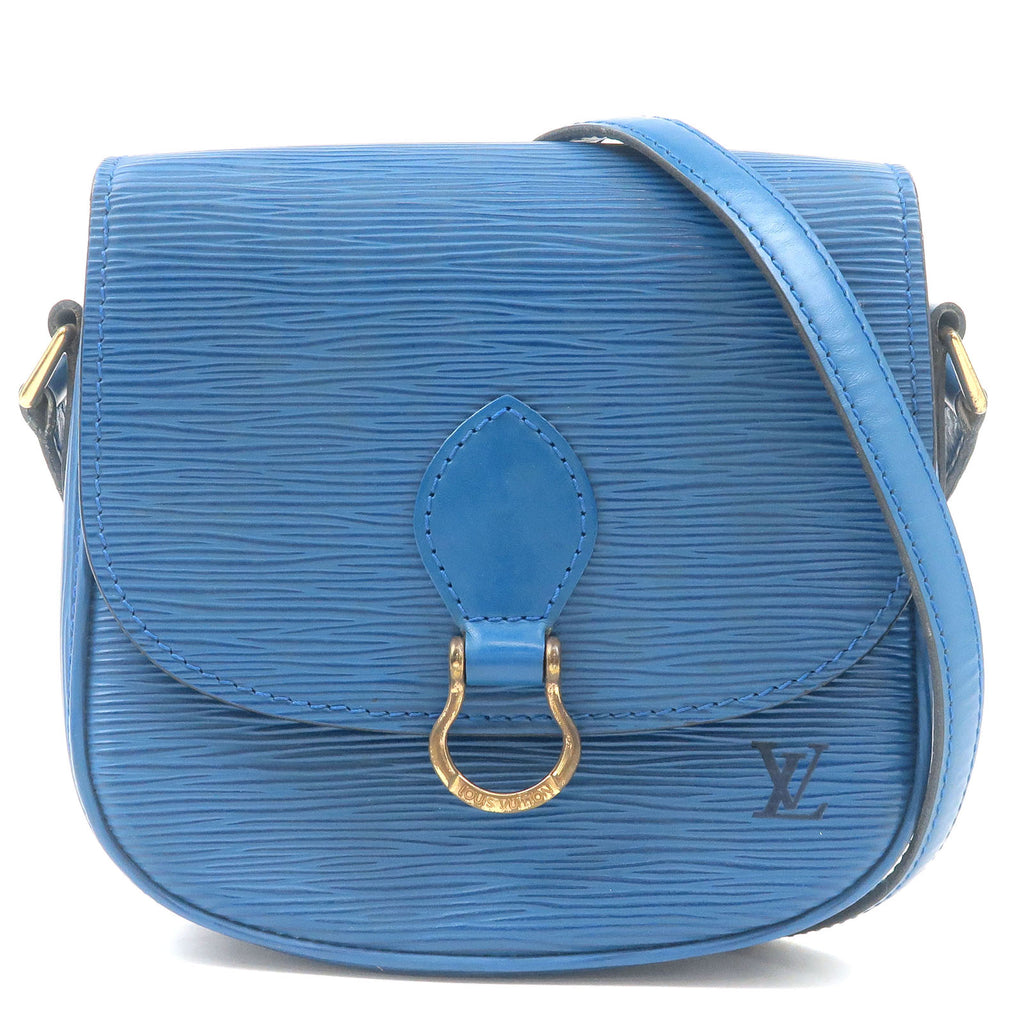 Louis-Vuitton-Epi-Mini-Saint-Cloud-Shoulder-Bag-Blue-M52215