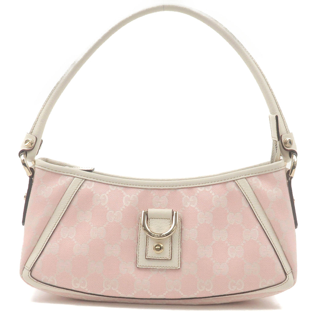 GUCCI-Abbey-GG-Canvas-Leather-Shoulder-Bag-Pink-White-130939