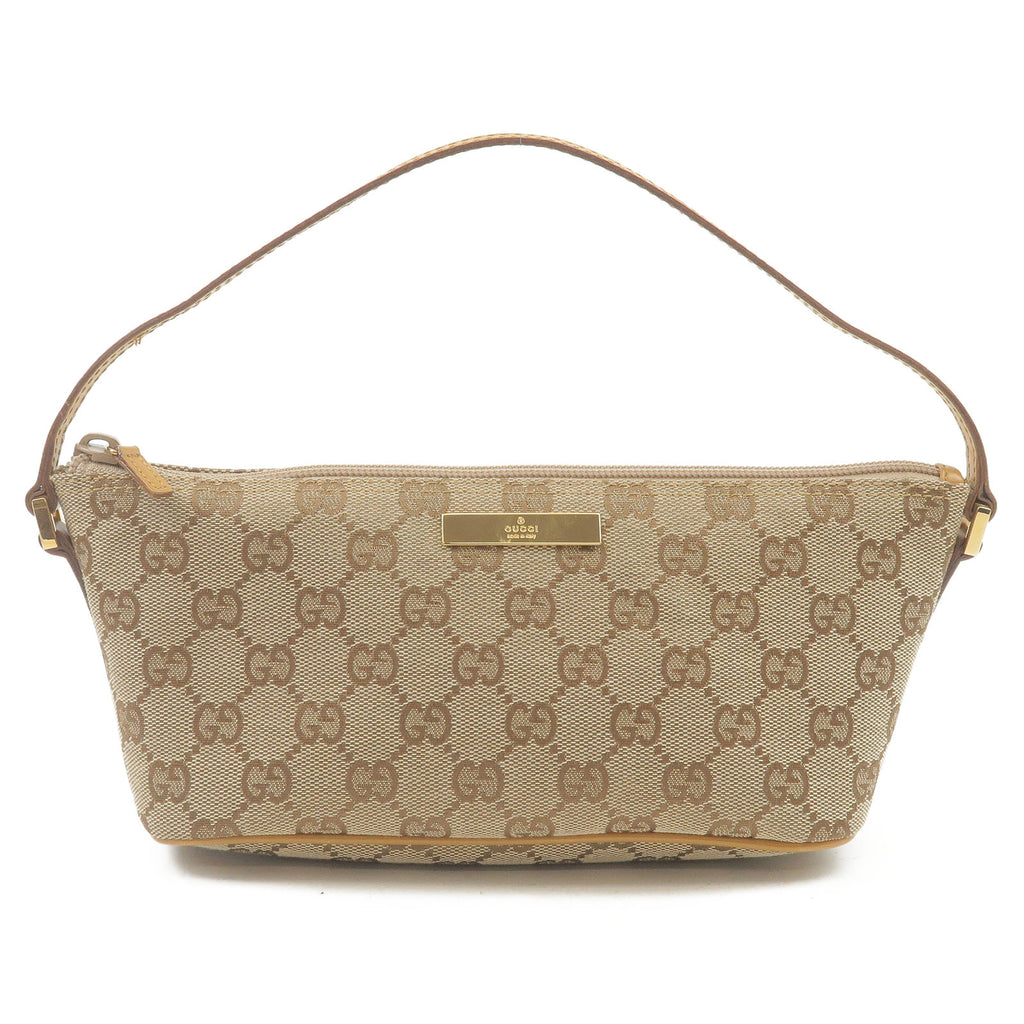 GUCCI-GG-Canvas-Leather-Hand-Bag-Pouch-Beige-Light-Brown-039.1103