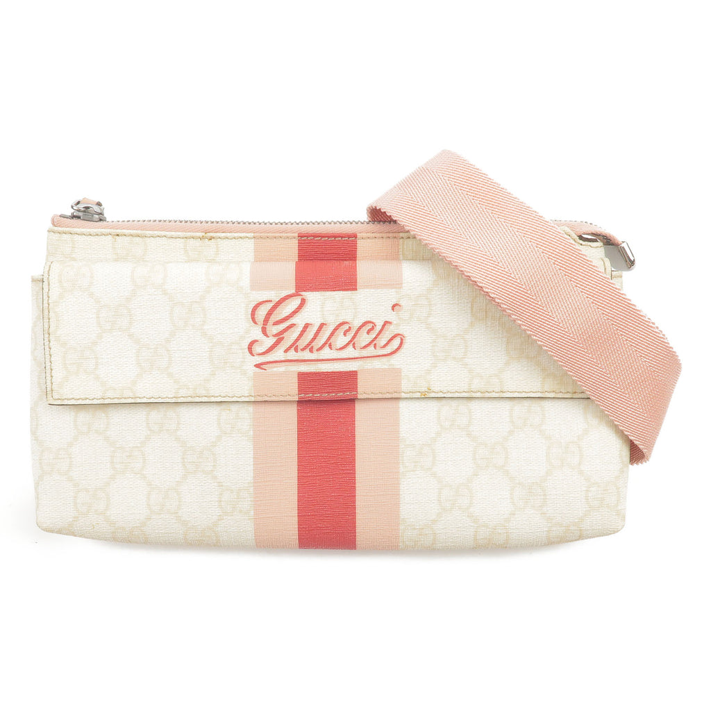 GUCCI-Shelly-Line-GG-Plus-Waist-Bag-Fanny-Pack-Ivory-Pink-189815