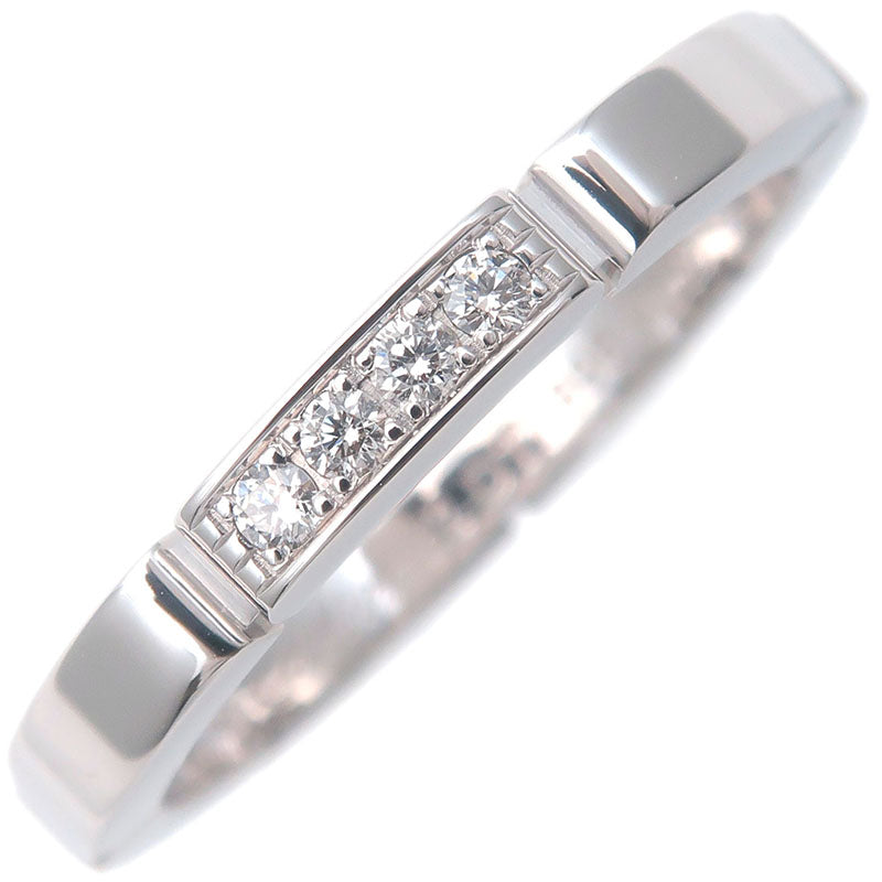 Cartier-maillon-panthère-4P-Diamond-Ring-White-Gold-#52-US6