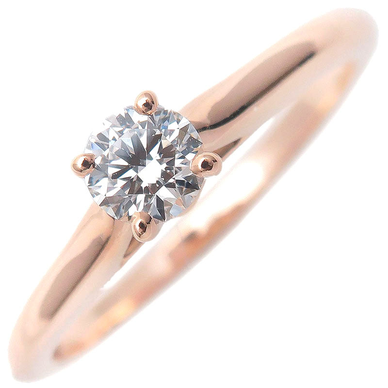 Cartier-Solitaire-1895-Diamond-Ring-0.19ct-Rose-Gold-#47-US4-4.5