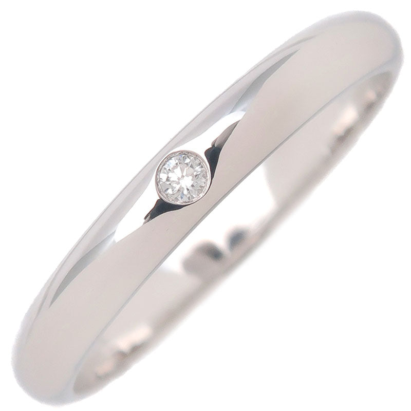 Cartier-Wedding-Ring-1P-Diamond-Platinum-#49-US5-HK10.5-EU49
