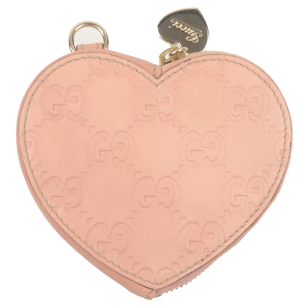 GUCCI-Guccissima-Leather-Heart-Coin-Case-Wallet-Pink-152615