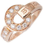 BVLGARI BVLGARI BVLGARI Ring Diamond K18 Rose Gold US6 HK13 EU51.5