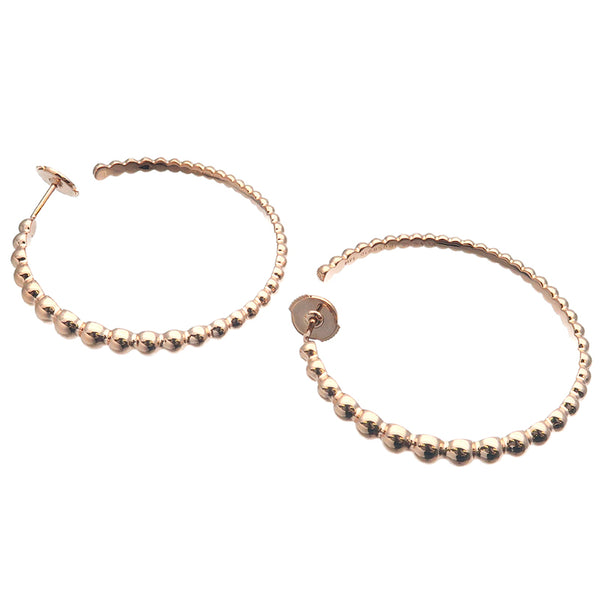 Van Cleef & Arpels Perlée Hoop Earrings Medium K18 Rose Gold