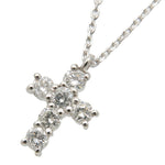 VENDOME AOYAMA Cross Diamond Necklace 0.30ct Platinum